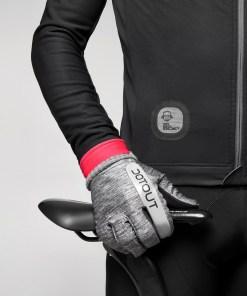 antartica chaqueta invierno negro-rojo