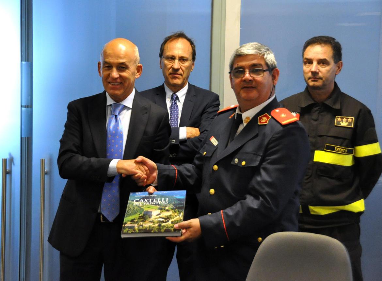 In Trentino i Vigili del Fuoco volontari di Concepciòn