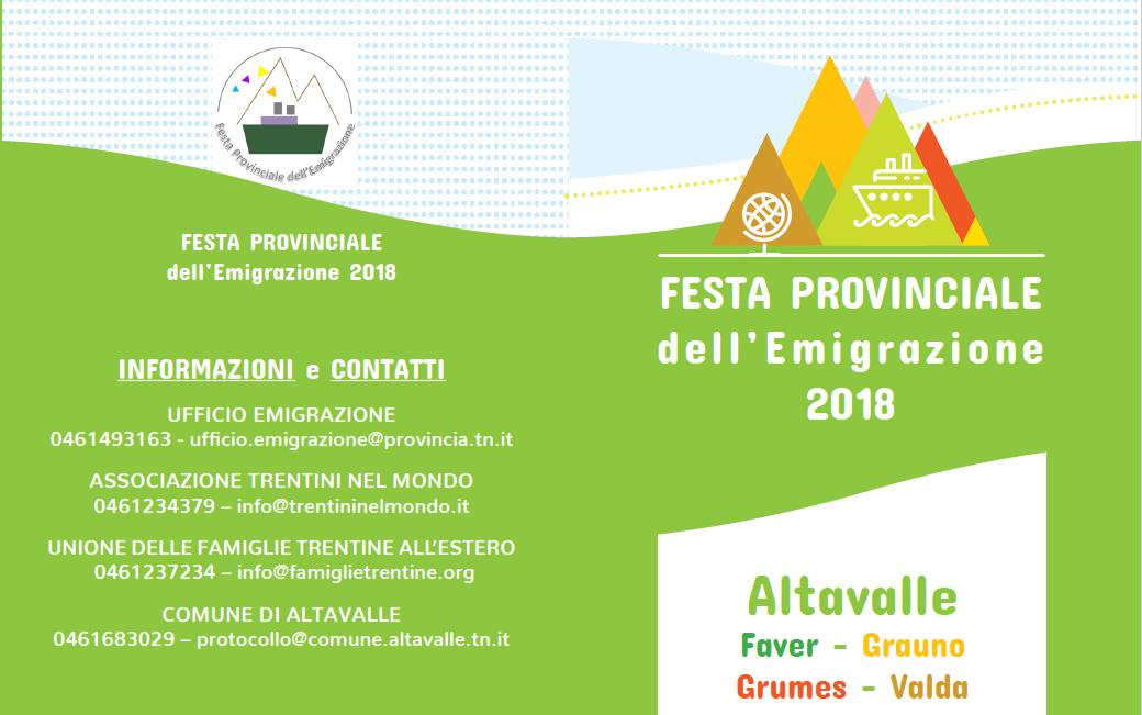 Festa dell'emigrazione trentina 2018
