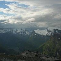Blick auf Geiranger und den Fjord vom Dalsnibba