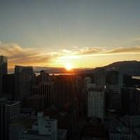Ausblick aus dem Lookout Tower auf die untergehende Sonne