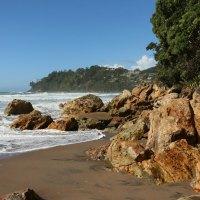 """Der """"Hot Water Beach"""" bei Flut - ohne Menschen"""