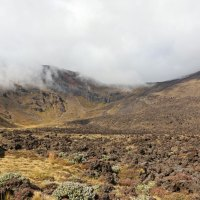 "Der Blick auf ""Soda Springs"", dem ersten Etappenziel der berühmten Wanderung ""Tongariro Crossing"""