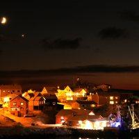 Das verschlafene Örtchen Honningsvag am Nordkap