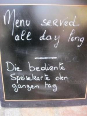 Speisekarte - bedient