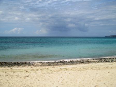 Blaues Meer. Kalt.