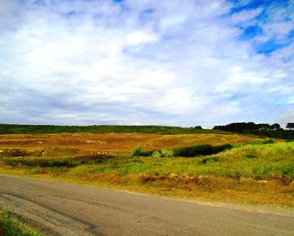 Bretonische Landschaft. Ohne Bäume.