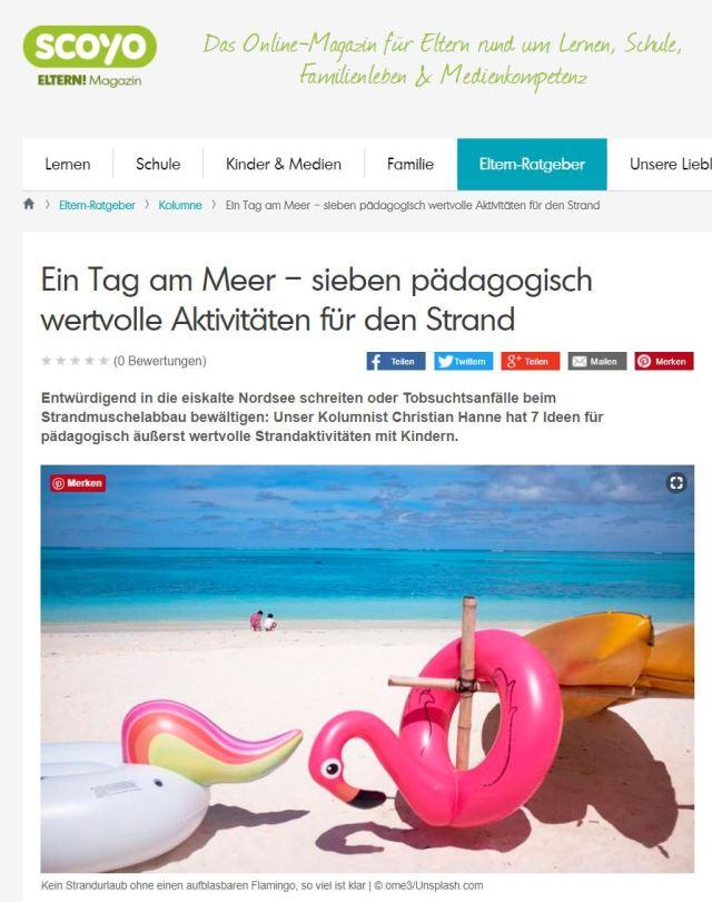 Scoyo-Kolumne: Ein Tag am Meer – sieben pädagogisch wertvolle Aktivitäten für den Strand