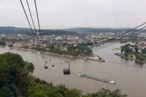 Koblenz, Blick von der Festung auf das Dreiländereck