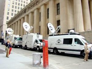 Les chaînes télé du monde entier à Wall Street