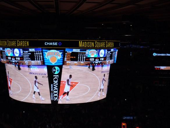 Match de NBA au Madison Square Garden