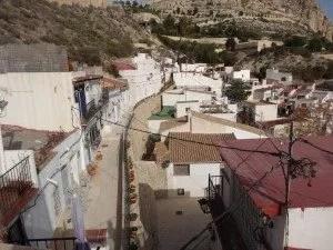 Vue sur certains petits quartiers d'Alicante