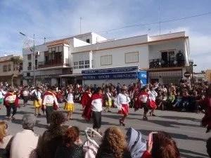 Mars 2014, Chipiona, Espagne, la famille nomade digitale est au carnaval