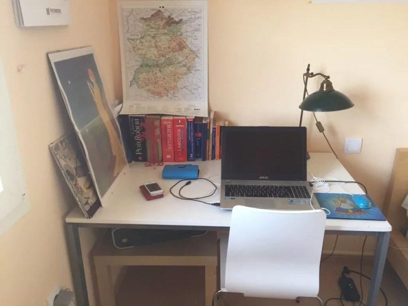 Famille nomade digitale - bureau à Merida-espagne