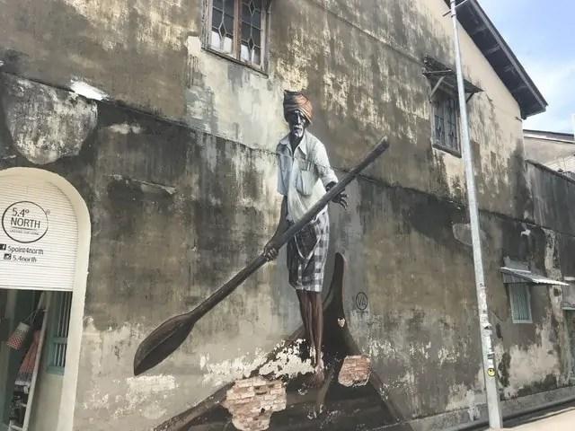 Street art Penang nomade digital malaisie