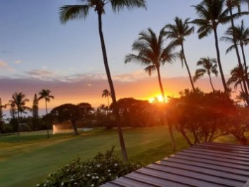 Coucher de soleil à Kona hawaii