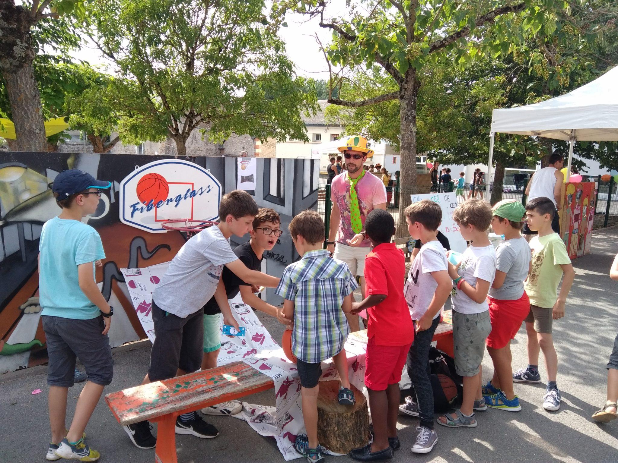 ALSH Veigné kermesse primaire du bourg avec l'aide des parents d'élèves (vendredi 30 juin 2017)