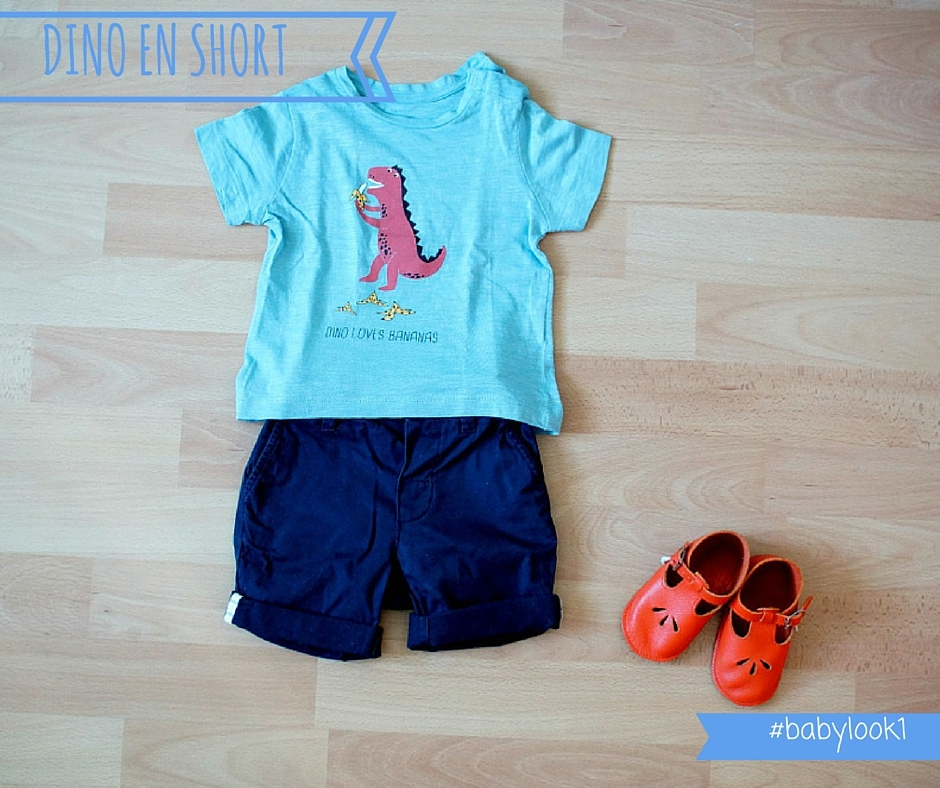 salomes oranges BABY LOOK #3 Dino en short