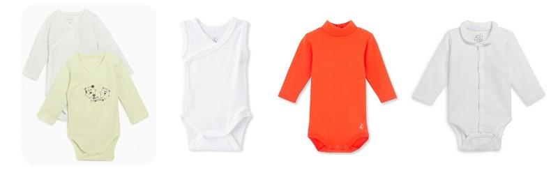 vêtements bébé indispensables body