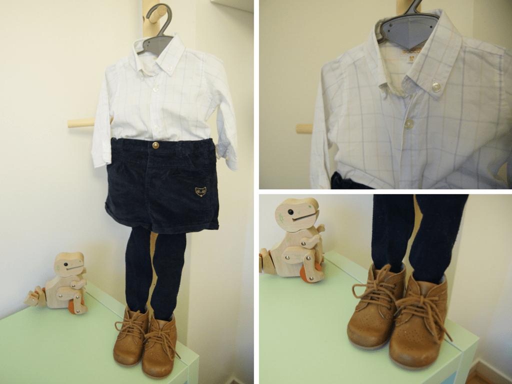 body-chemise bébé Gocco BABY LOOK #2 petit garcon sage