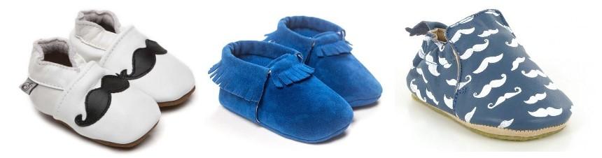 chaussures nouvea-né chaussons cuir