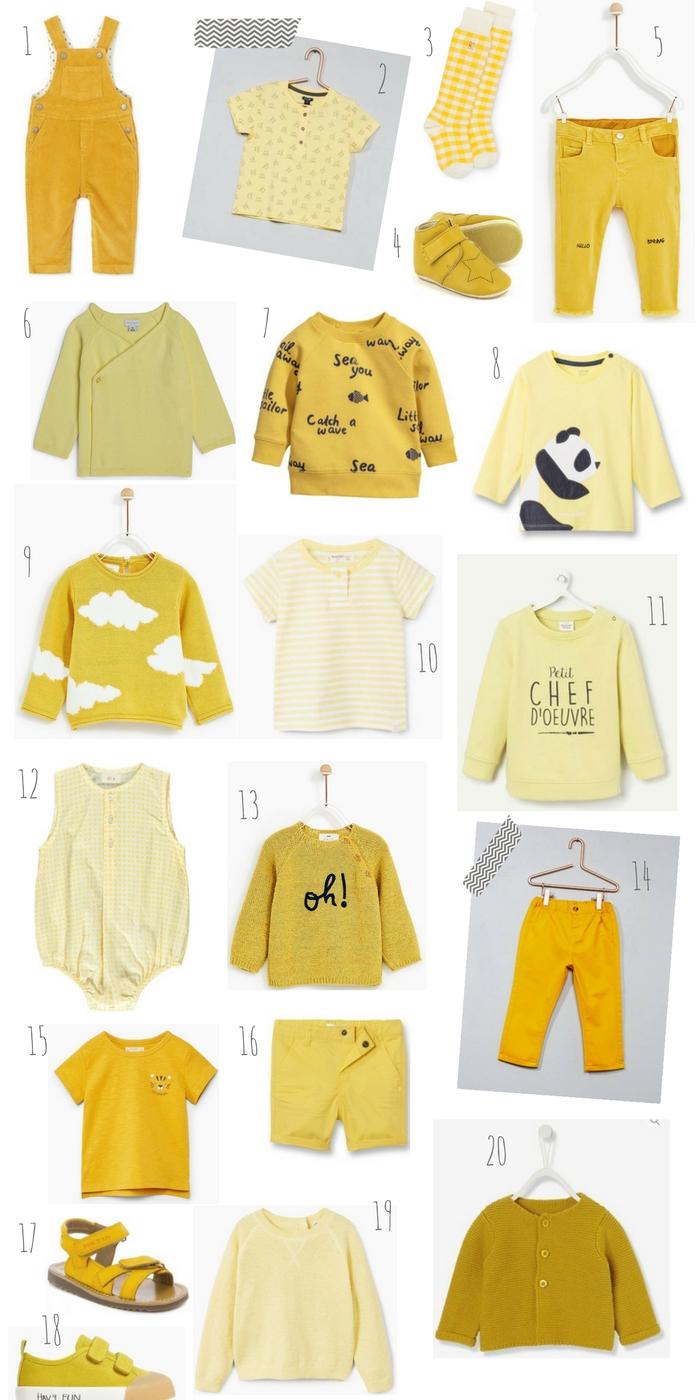 mode jaune dressing bébé banner