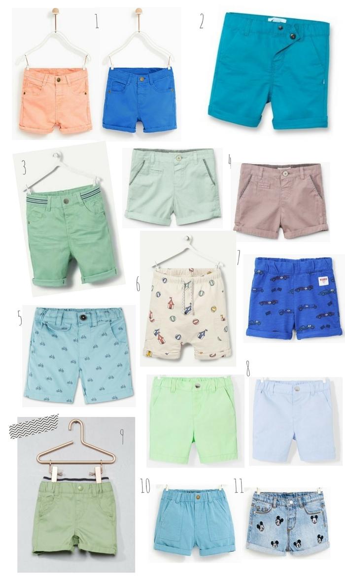 sélection shorts pour petit garçon