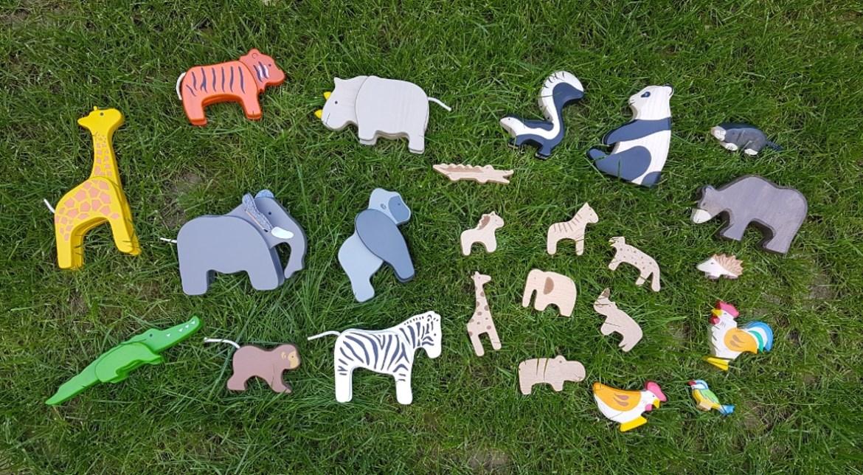 animaux en bois décoration chambre bébé enfant jouet