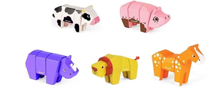 animaux en bois janod animal kit