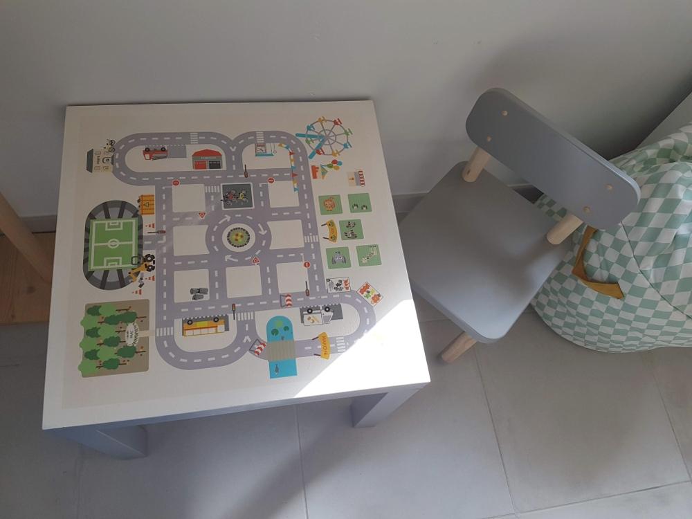 restaurer table ikea lack hack sticker carré circuit
