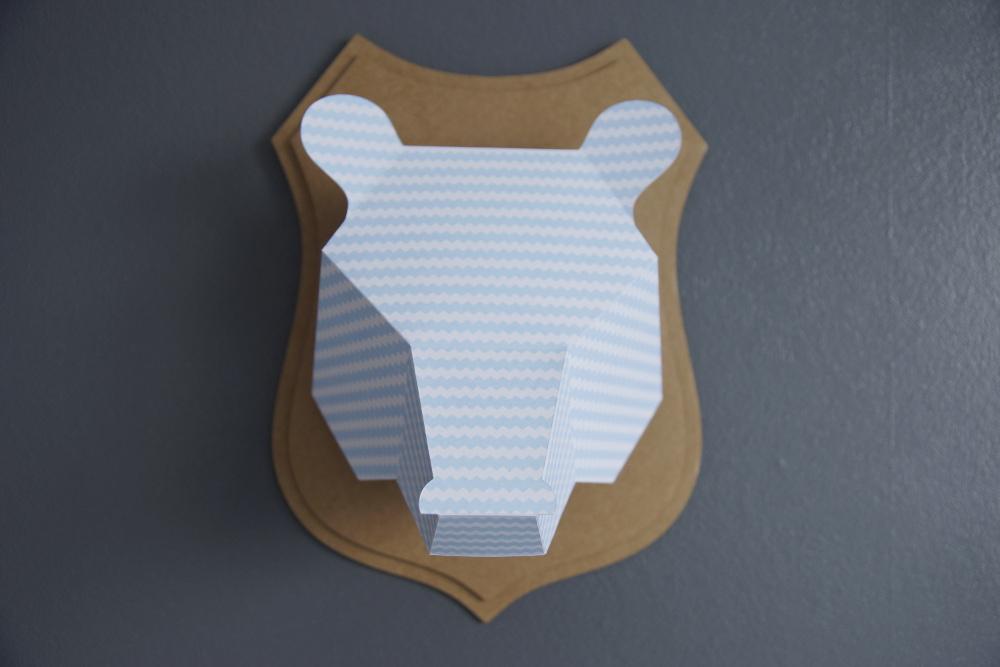 trophée ours papier un après midi bucolique 9