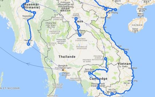 Itinéraire Asie du Sud-Est