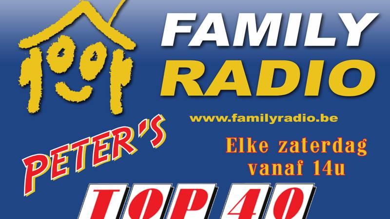 Elke zaterdag Peter's Vlaamse TOP40 bij FamilyRadio