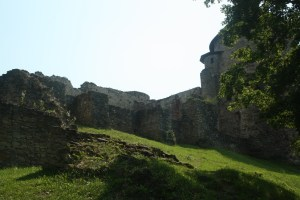 Impressive ruines in Cesis, Latvia. They are surrounded by a beautiful park.