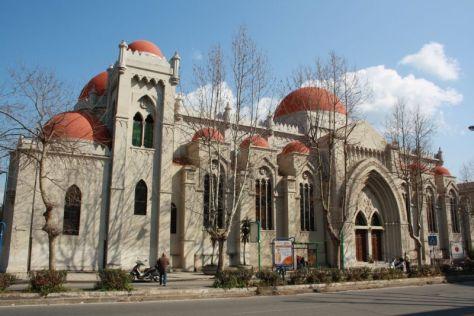 Kirche mit roten Kuppeln, Messina, Sizilien