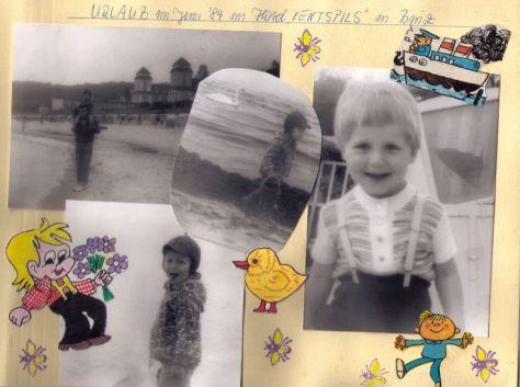 Mit 3 war Martin mit seinen Eltern und seiner großen Schwester in Binz auf Rügen.