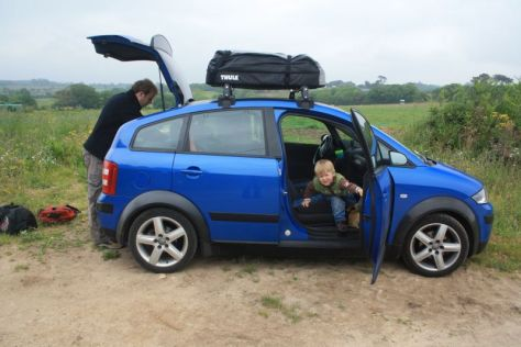 Roadtrip mit Kindern, Thule Softshell Dachbox.