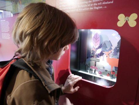 Familienurlaub im Bayerischen Wald, Eisenmann-Haus, Ausstellung für Kinder