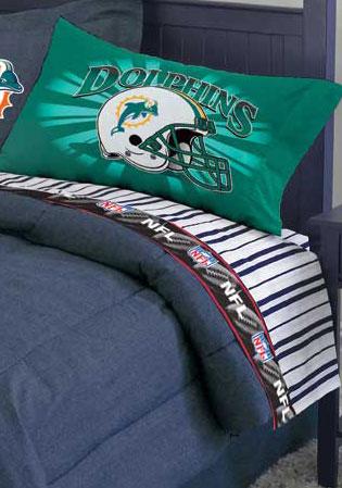 miami dolphins pillow case