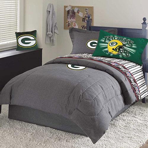 Green Bay Packers NFL Team Denim Twin Comforter Sheet Set