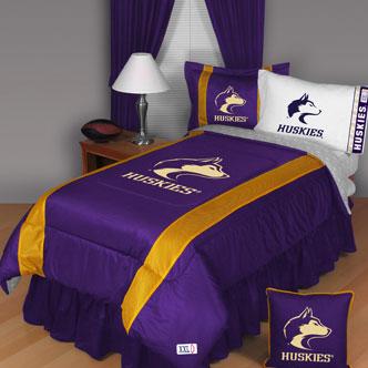 Washington Huskies Side Lines Comforter Sheet Set