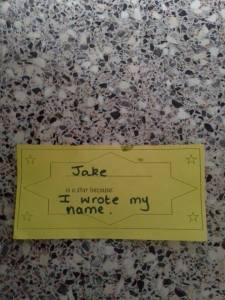 Jake Writing Certificate