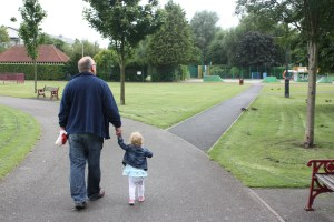 Grand dad Al & Olivia at Coronation Park Ormskirk