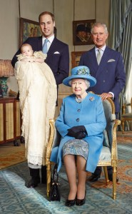 Her Majesty The Quuen, Prince Charles, Prince William & Prince George.