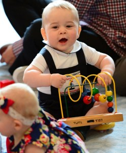 "Prince George at his ""playdate"" in New Zealand"