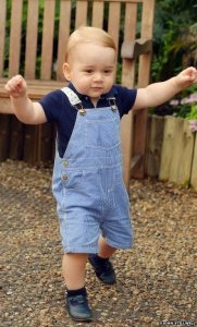 A toddling Prince George