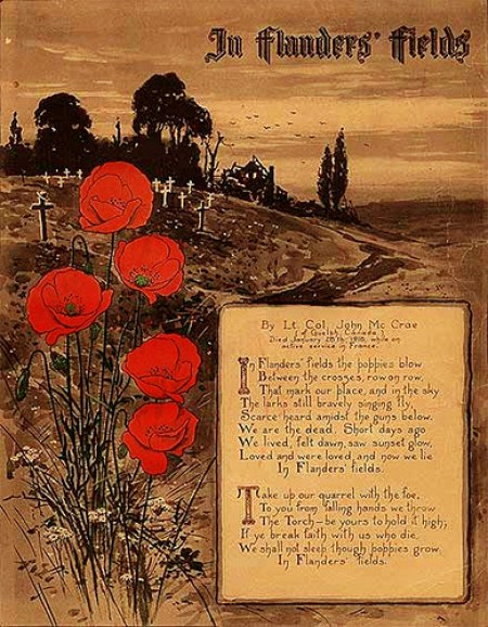 John McCrae Rememberance Sunday