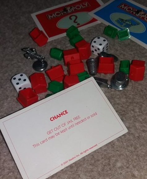 Monopoly Get Out of Jail Free Card Family Clan Blog