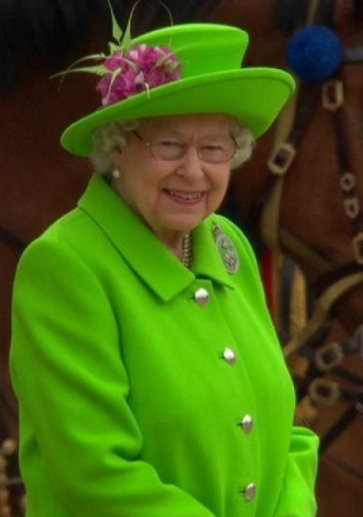 Happy Birthday Your Majesty in Lime Green