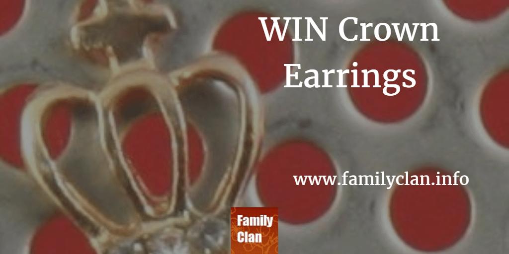 Win Crown Earrings